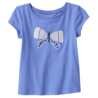 Toddler Girl Jumping Beans® Butterfly Applique Tee