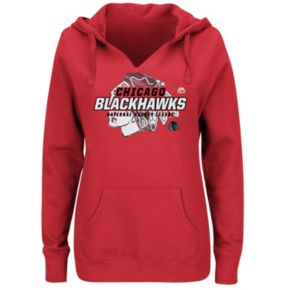 Plus Size Majestic Chicago Blackhawks Pullover Hoodie