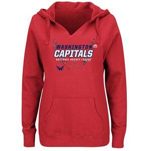 Plus Size Majestic Washington Capitals Pullover Hoodie
