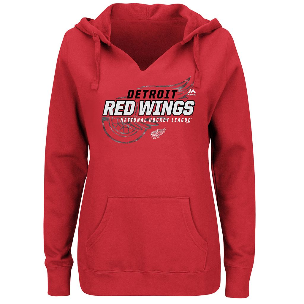 Plus Size Majestic Detroit Red Wings Pullover Hoodie