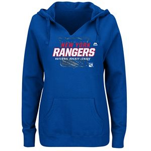 Plus Size Majestic New York Rangers Pullover Hoodie
