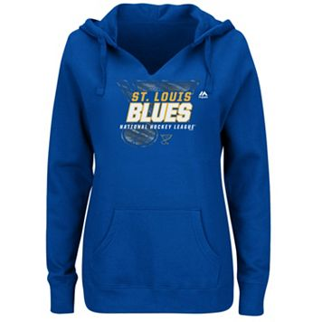 Plus Size Majestic St. Louis Blues Pullover Hoodie