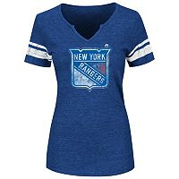 Plus Size Majestic New York Rangers Notchneck Tee