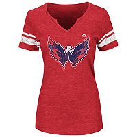 Plus Size Majestic Washington Capitals Notchneck Tee