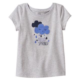 """Toddler Girl Jumping Beans® """"Hello Spring"""" Applique Tee"""