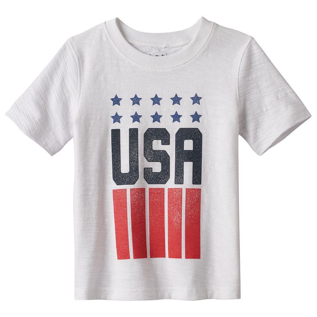 Toddler Boy Jumping Beans® U.S.A. Slubbed Tee