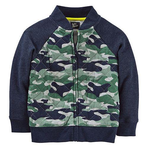 Toddler Boy OshKosh B'gosh® Jersey Camo Bomber Jacket