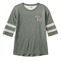 Girls 7-16 & Plus Size SO® Lace Yoke Varsity Tee