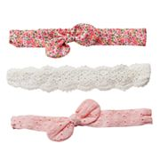 Girls 4-7 Carter's 3 pkEyelet & Print Headwraps