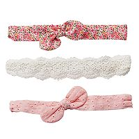 Girls 4-7 Carter's 3-pk. Eyelet & Print Headwraps