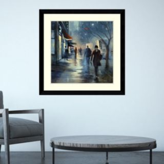 Amanti Art Broadway at Dusk Framed Wall Art