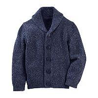 Toddler Boy OshKosh B'gosh® Marled Shawl Collar Cardigan Sweater