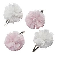 Girls 4-7 Carter's 4 pkMesh Flower Hair Clips