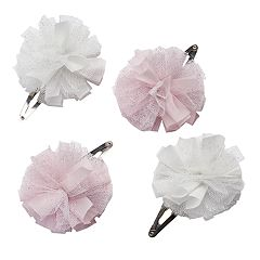 Girls 4-7 Carter's 4-pk. Mesh Flower Hair Clips