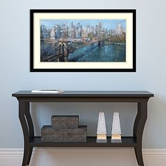 Amanti Art Brooklyn Bridge Framed Wall Art