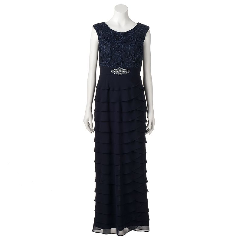 25ae454effffb Women's Jessica Howard Tiered Lace Evening Gown (Unbelievably alluring,  this women's tiered evening gown from Jessica Howard gives you a stunning  formal ...