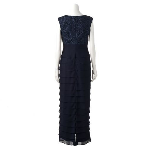 Women's Jessica Howard Tiered Lace Evening Gown