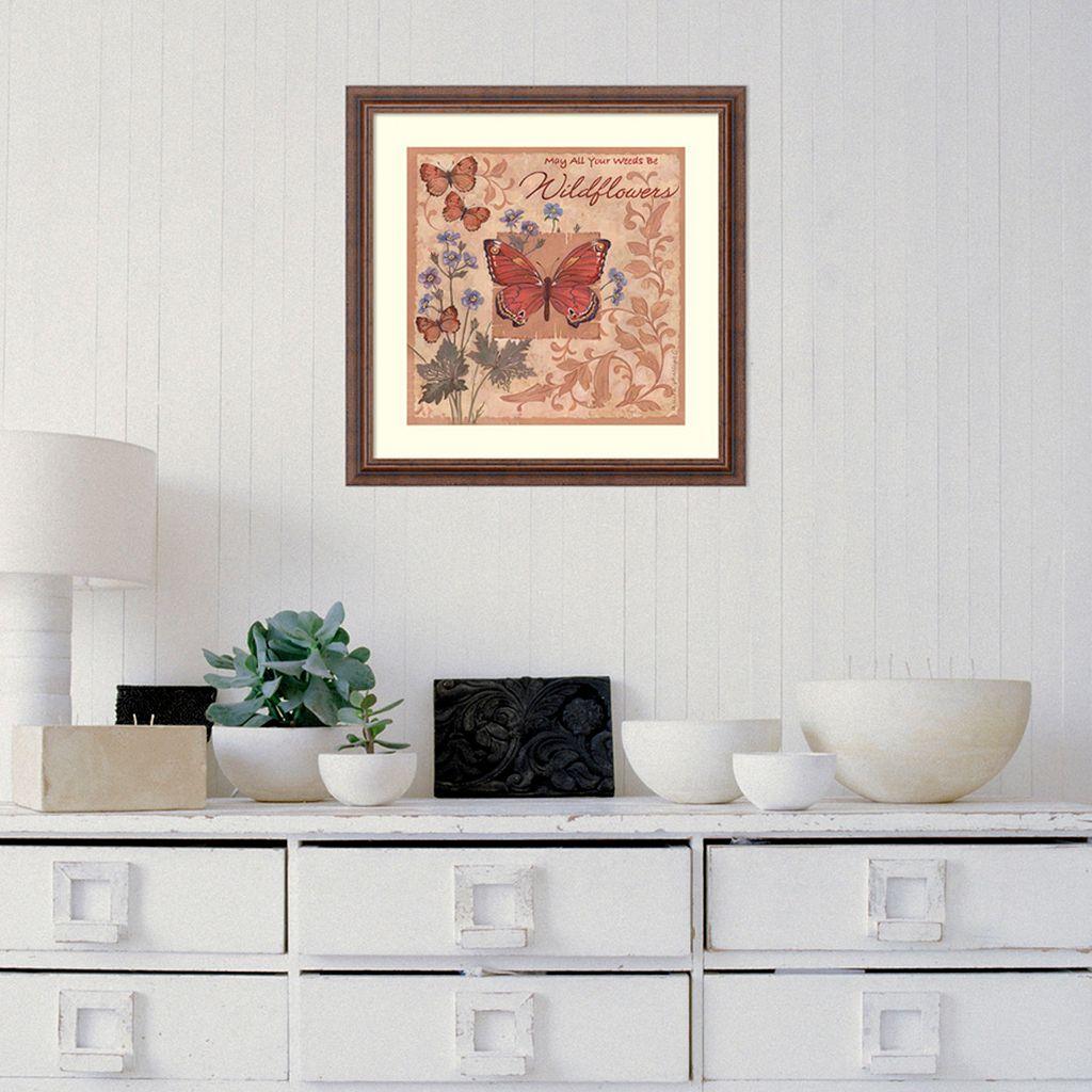 Amanti Art Butterflies And Flowers Framed Wall Art