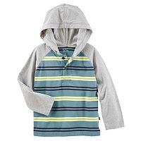 Toddler Boy OshKosh B'gosh® Striped Raglan Pullover Hooded Top