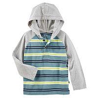 Toddler Boy OshKosh B'gosh® Striped Raglan Pullover Hooded Top