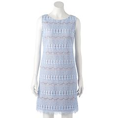 Women's Jessica Howard Crochet Lace Shift Dress