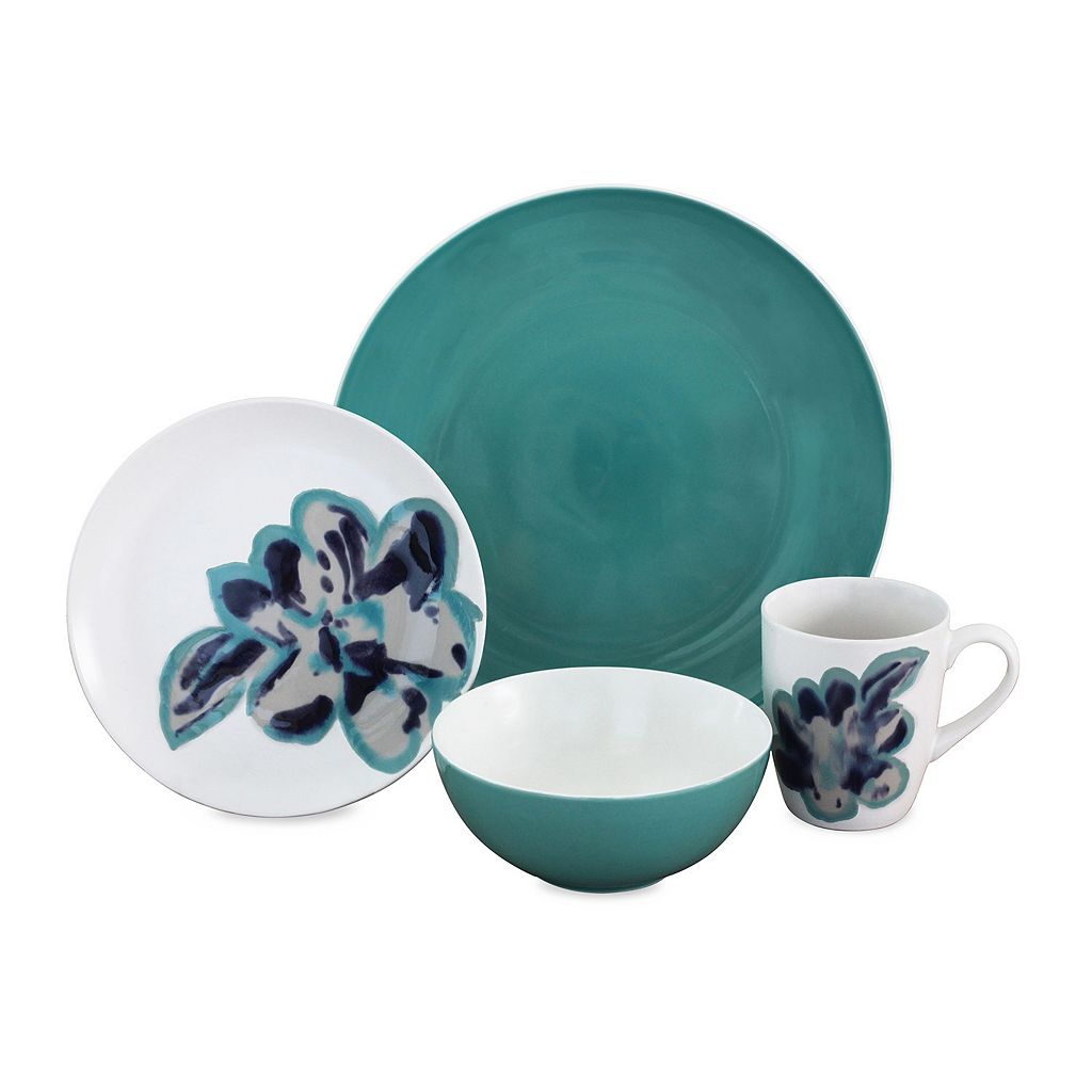 Baum Bloom Jade 16-pc. Dinnerware Set