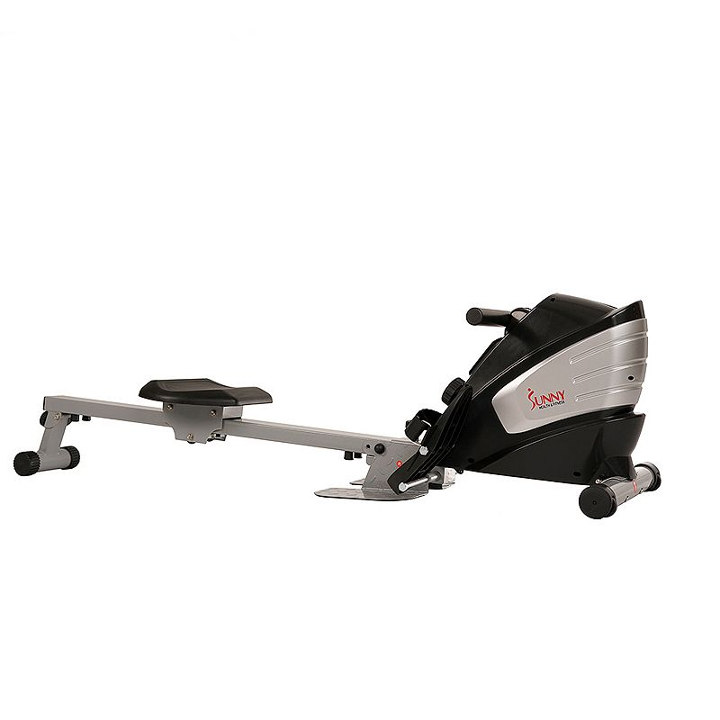 Sunny Health & Fitness Dual Function Magnetic Rowing Machine, Grey