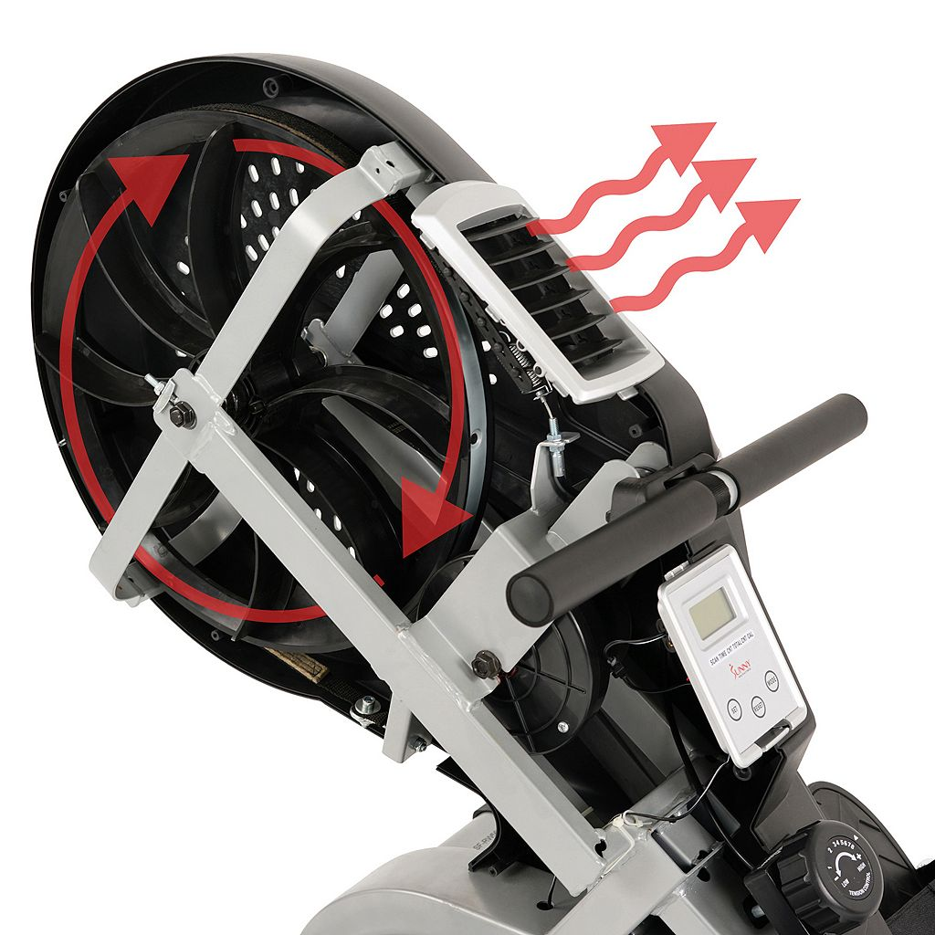 Sunny Health & Fitness Air Magnetic Rower