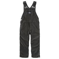 Toddler Boy OshKosh B'gosh® Jersey-Lined Black Corduroy Overalls