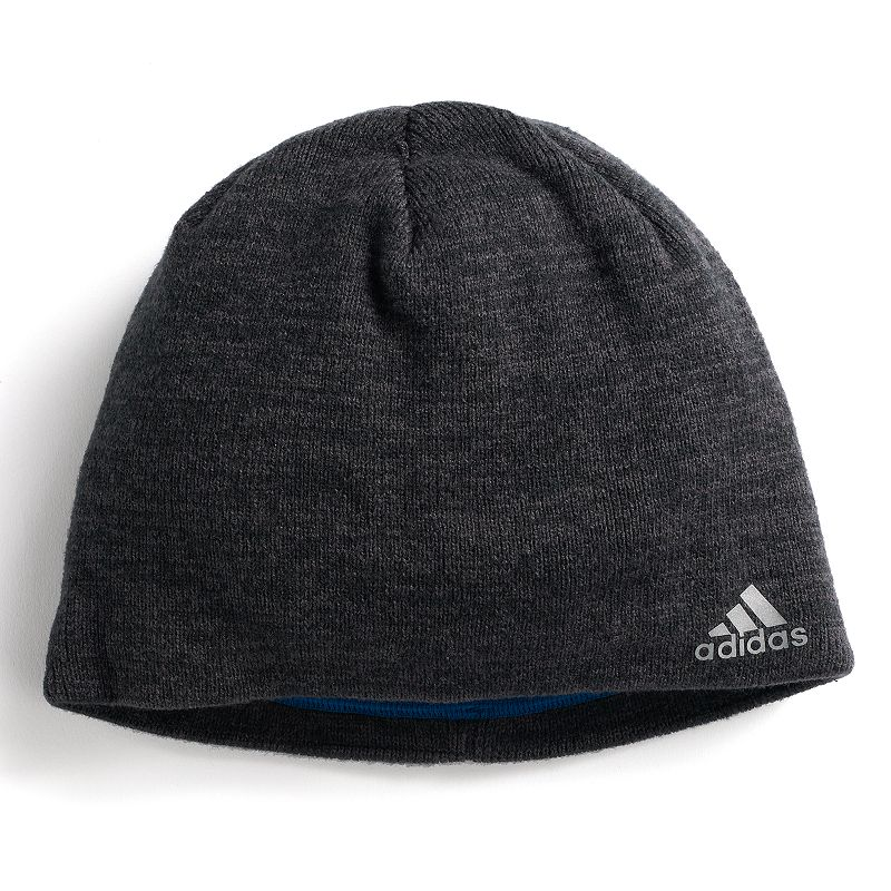 Men's Adidas Paranount Beanie, Black Top off your sporty look with this men's Adidas beanie. Climawarm fabric traps in heat to keep you warm FIT & Sizing One size fits most Fabric & Care Acrylic Machine wash Imported Size: Onesize. Color: Black. Gender: Male. Age Group: Adult. Material: Polyester.