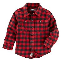 Toddler Boy OshKosh B'gosh® Plaid Pocket Button Down Shirt