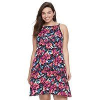 Juniors' Plus Size SO® Halter Swing Dress