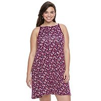 Juniors' Plus Size SO® Halter Swing Dress