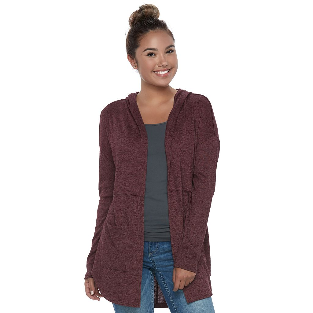 Juniors' Mudd® Hooded Cardigan