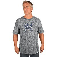Big & Tall Majestic Milwaukee Brewers Fast Pitch Slubbed Tee