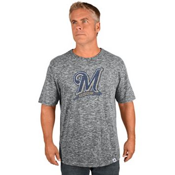 Big & Tall Majestic Milwaukee Brewers Fast Pitch Slubbed Tee