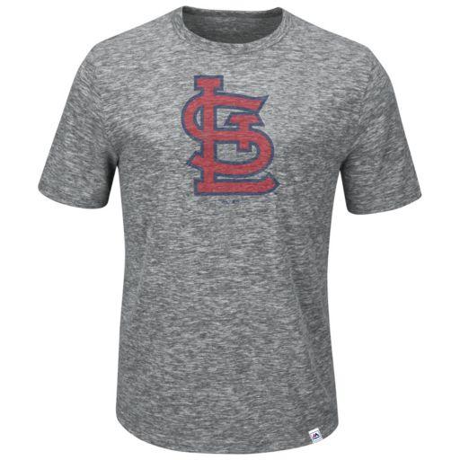 Big & Tall Majestic St. Louis Cardinals Fast Pitch Slubbed Tee