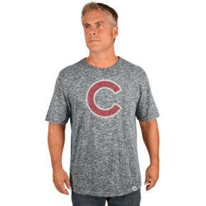 Big & Tall Majestic Chicago Cubs Fast Pitch Slubbed Tee
