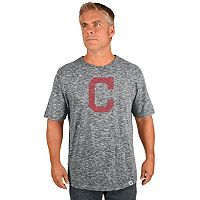 Big & Tall Majestic Cleveland Indians Fast Pitch Slubbed Tee