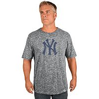 Big & Tall Majestic New York Yankees Fast Pitch Slubbed Tee