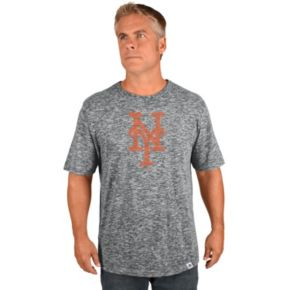 Big & Tall Majestic New York Mets Fast Pitch Slubbed Tee