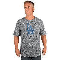 Big & Tall Majestic Los Angeles Dodgers Fast Pitch Slubbed Tee