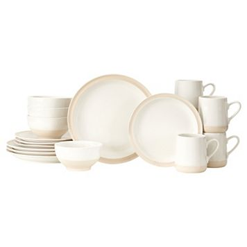 Baum Grayden White 16-pc. Dinnerware Set