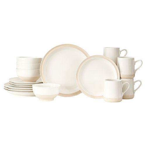Baum Grayden White 16-pc. Dinnerware Set