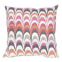 Liora Manne Visions III Floating Ink Indoor Outdoor Throw Pillow