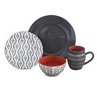 Baum Tangiers Grey 16 pc Dinnerware Set