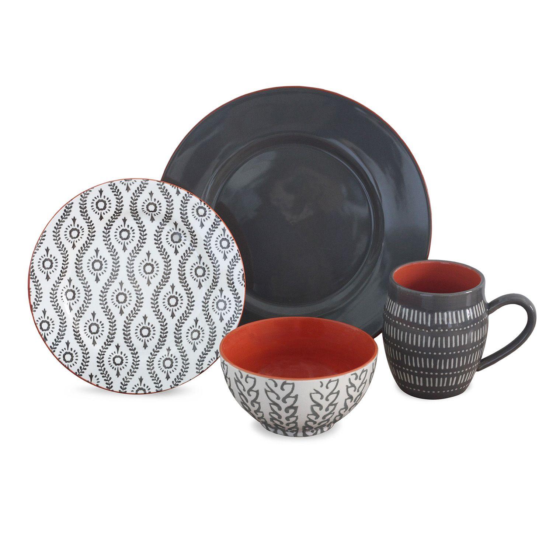 Dinnerware Set  sc 1 st  Kohlu0027s & Baum Tangiers Grey 16-pc. Dinnerware Set | null