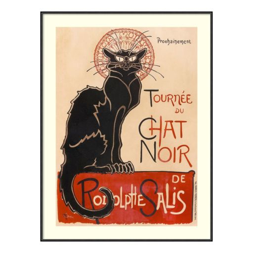 """Amanti Art """"Chat Noir"""" Framed Wall Art"""