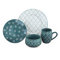 Baum Moroccan Turquoise 16 pc Dinnerware Set