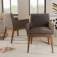 Baxton Studio Mid-Century Modern Dining Chair 2-piece Set
